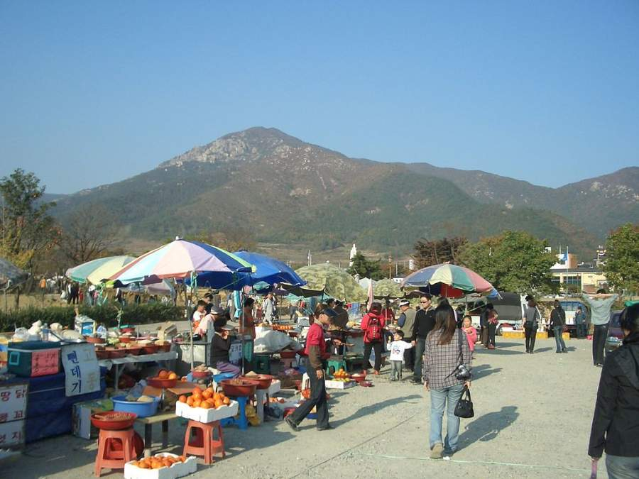 Mercadillo popular en Gwangju
