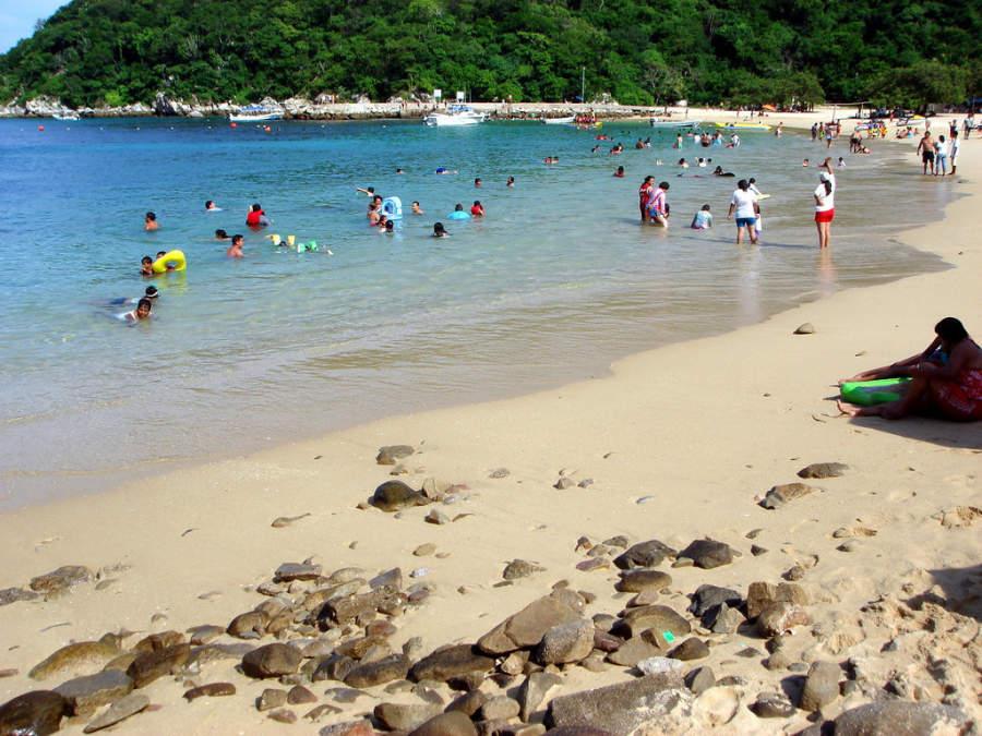 Playa Entrega en Santa María de Huatulco