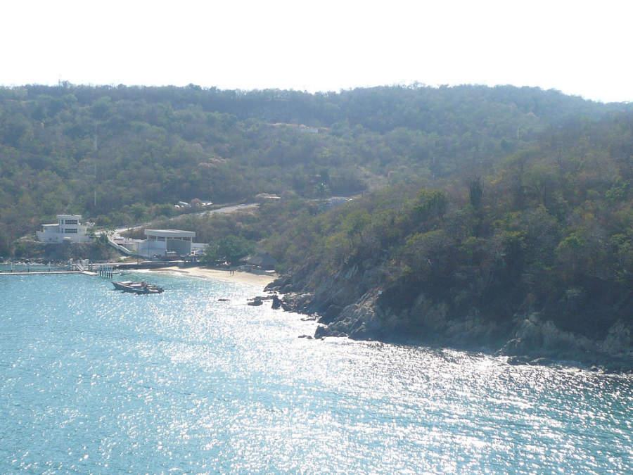 Vista aérea del mar en Huatulco