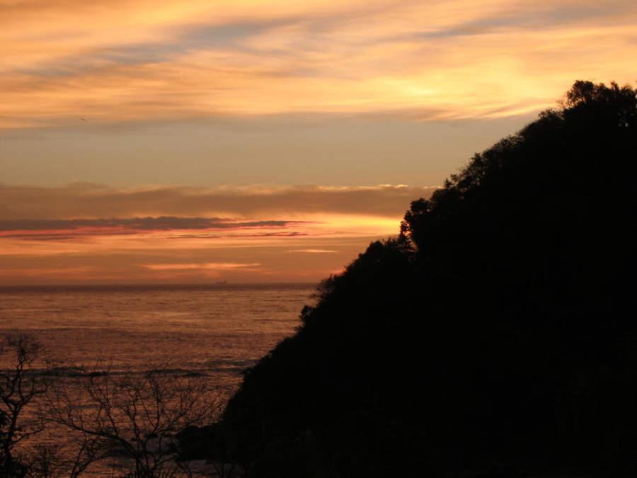 Vista del atardecer en el mar de Huatulco
