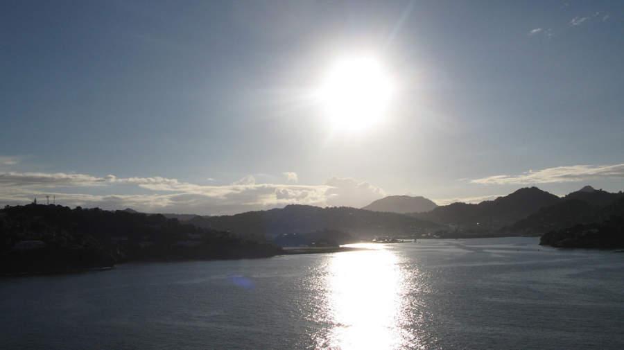 Atardecer en Castries, Saint Lucia