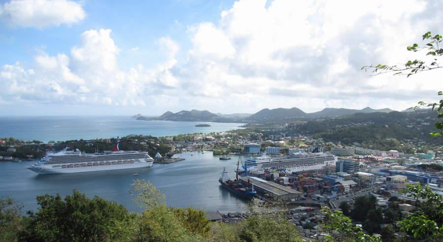Castries, destino turístico para cruceros