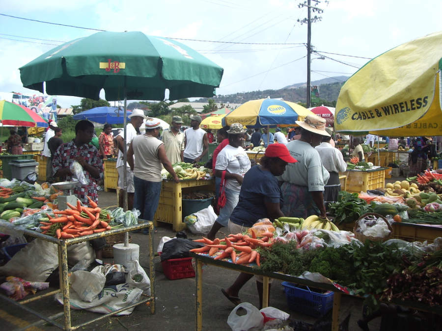 Mercado en Roseau, Saint George