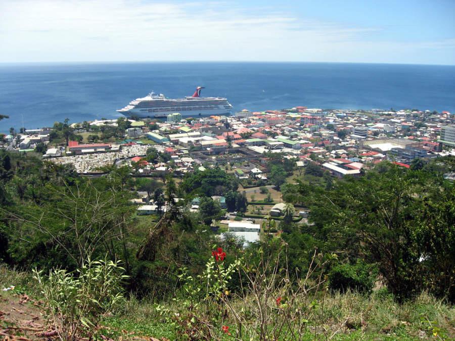 Roseau es el puerto de comercio exterior más importante de Dominica