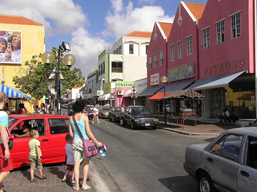 Avendida Scene en Willemstad, Curazao