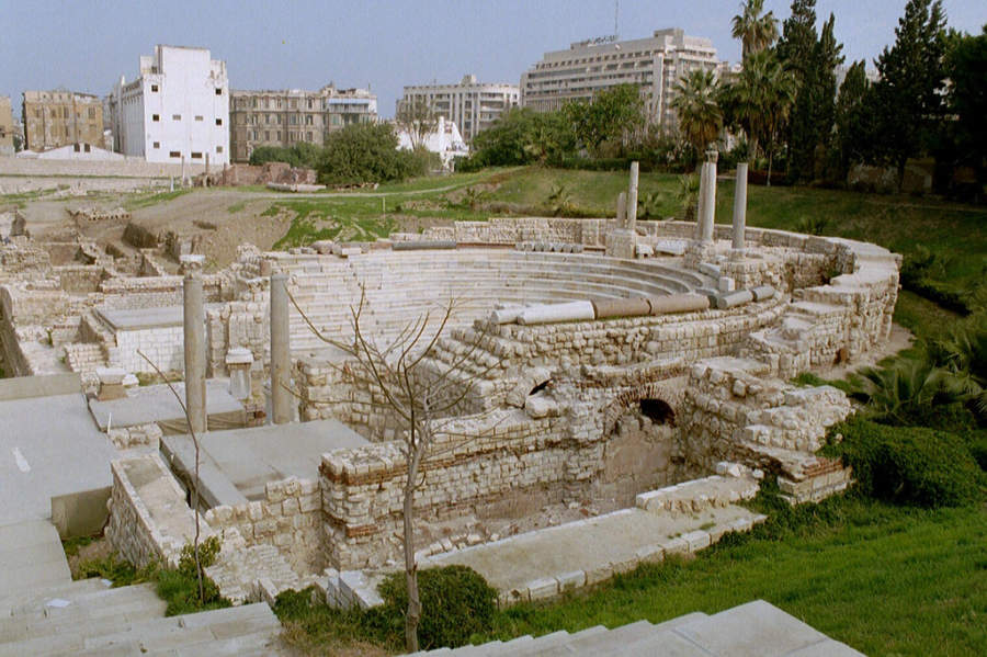 Antiguo teatro romano en Alejandría