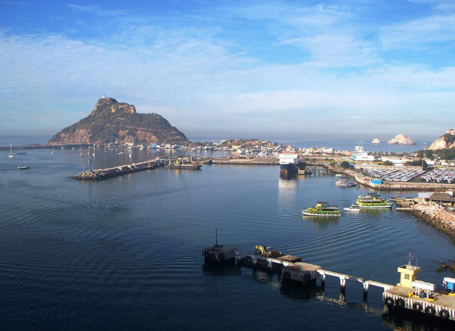 Vista panorámica del puerto de Mazatlán, Sinaloa