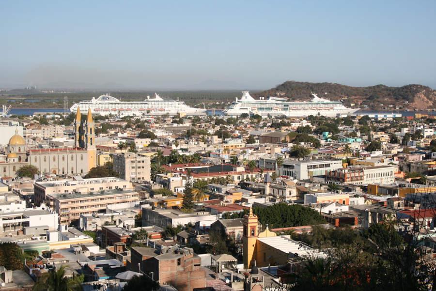 Vista del centro de la ciudad de Mazatlán