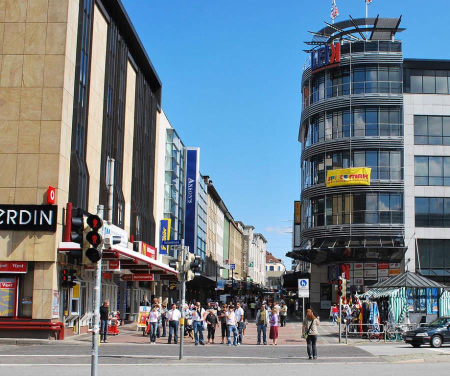 Holstenstrasse, la calle más grande donde hacer compras en Kiel
