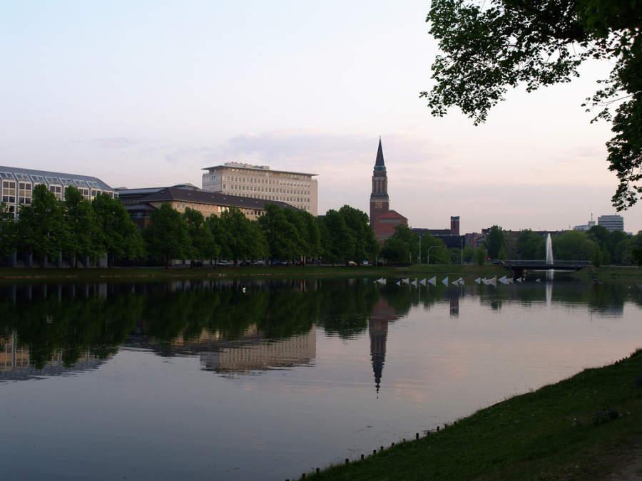 Kleiner Kiel, lago localizado en el centro de la ciudad