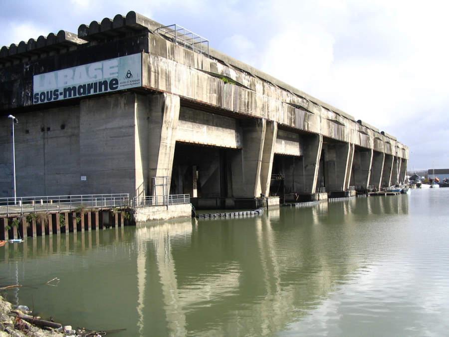 Antigua base de submarinos en Burdeos