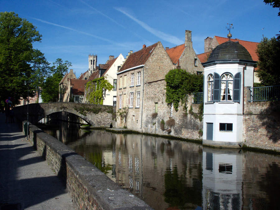 Groenerei, canal en Brujas