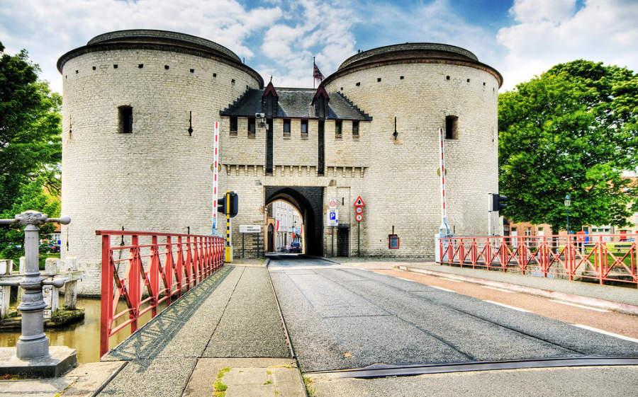 Kruispoort, puente en Brujas