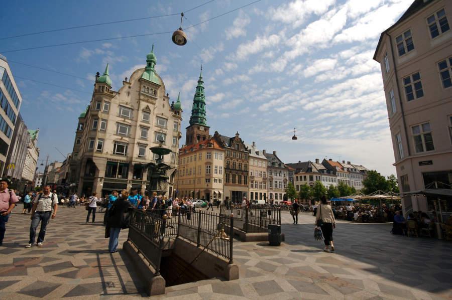 Strøget, famosa calle en Copenhague