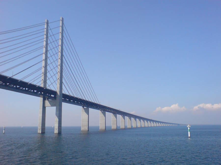 Puente de Øresund, conecta Copenhague con Malmö, Suecia