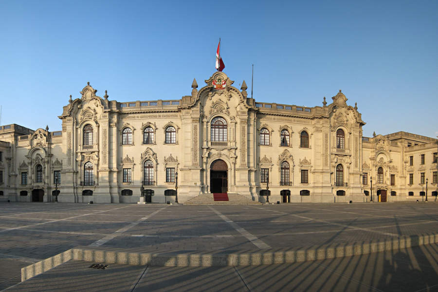 Palacio de Gobierno, una de las principales atracciones en Lima