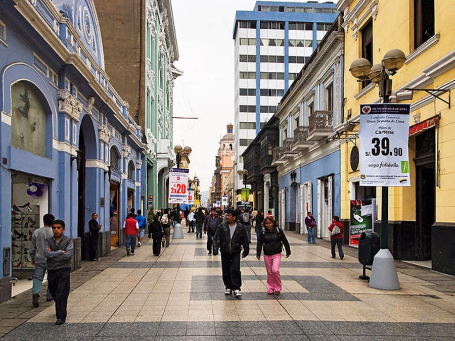Calles en el centro de Lima