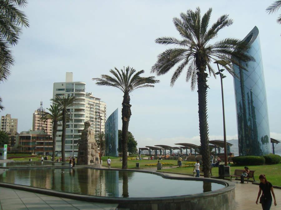 Zona moderna en el centro de Lima
