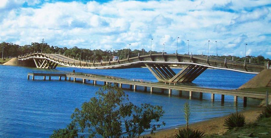 Puente de La Barra en Punta del Este