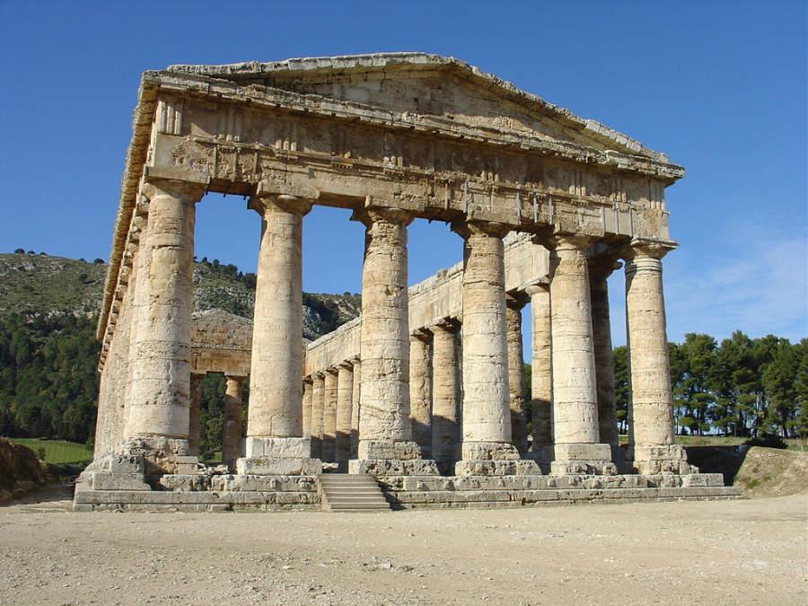 Zona arqueológica de Segesta, cerca de Trapani