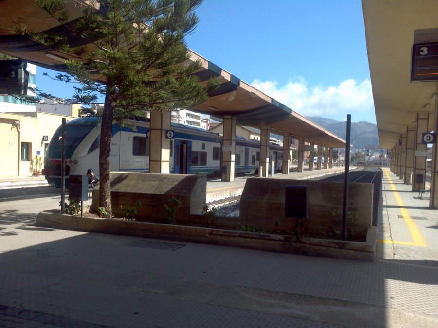 Estación de tren en Trapani