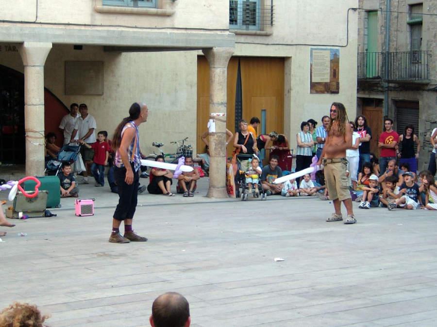 Entretenimiento en una calle de Trapani