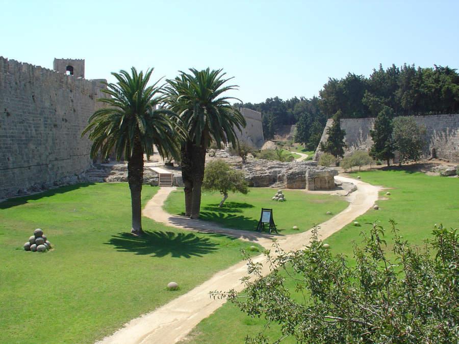 Antiguo fuerte de la ciudad de Rodas