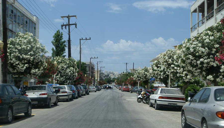Calle de la ciudad de Rodas
