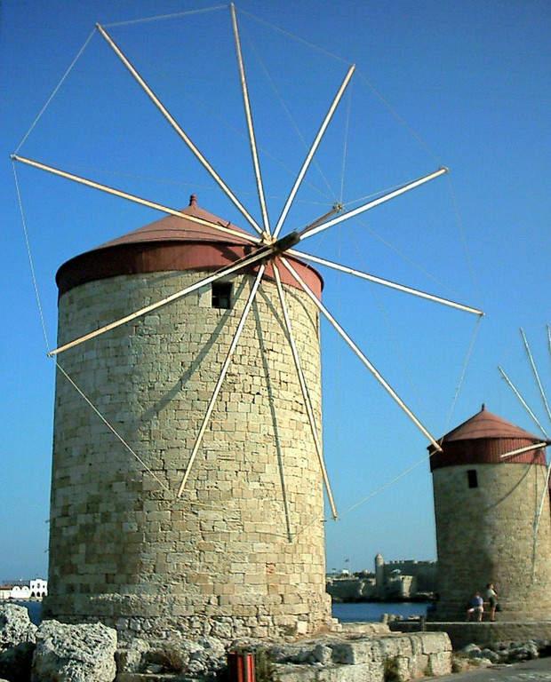 Molinos de viento en Rodas