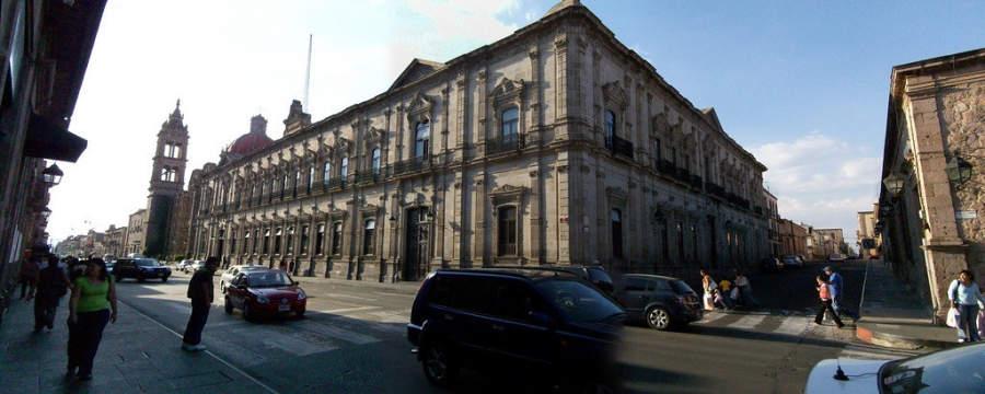 Palacio Federal en el centro de Morelia