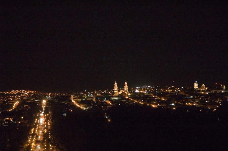 Morelia de noche
