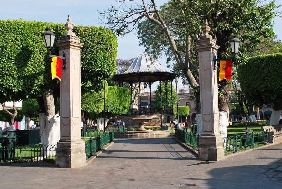 Plaza de Armas en Morelia