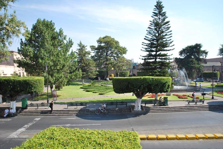 El jardín Villalongín en Morelia