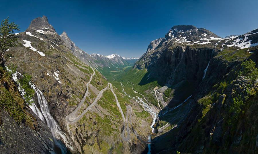 Trollstigen, atracción turística a 80 kilómetros de Molde