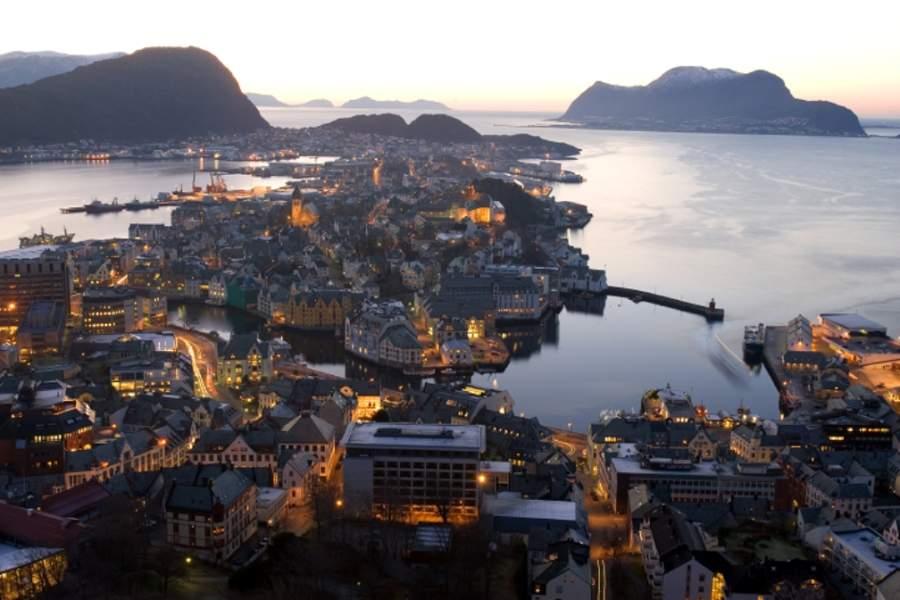 Vista panorámica de Ålesund