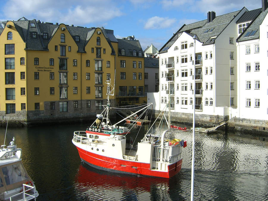 Ålesund es famosa por su arquitectura Art Nouveau