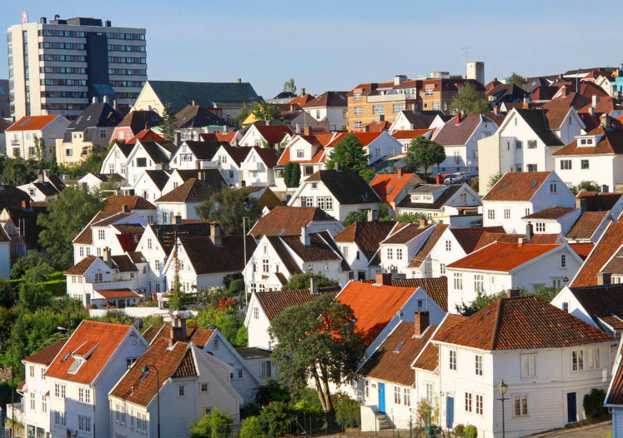 Arquitectura de Gamle Stavanger, la zona antigua de la ciudad