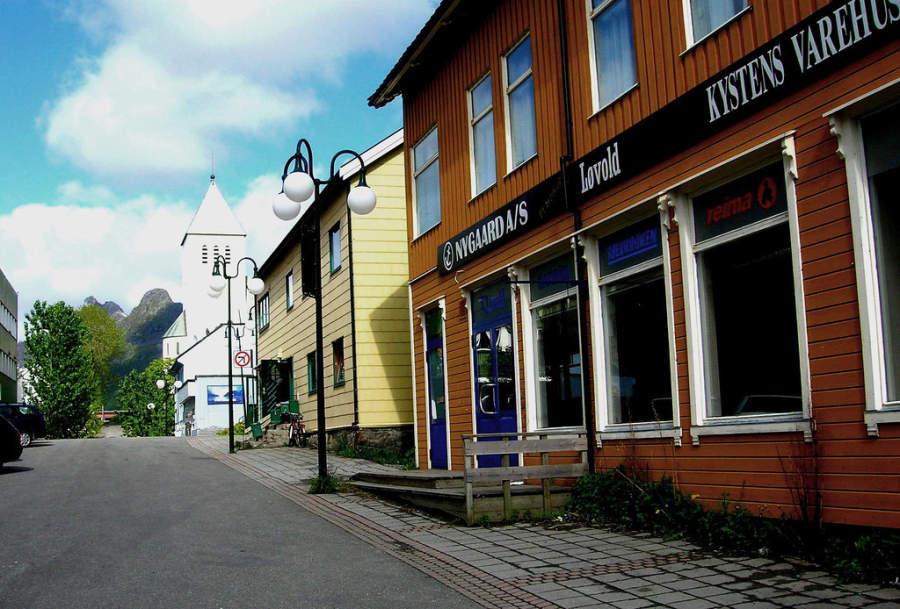 El centro de Svolvær