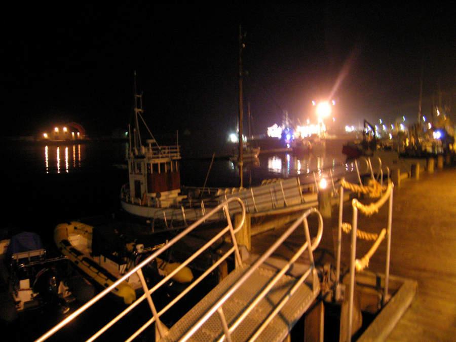 Puerto de Svolvær de noche