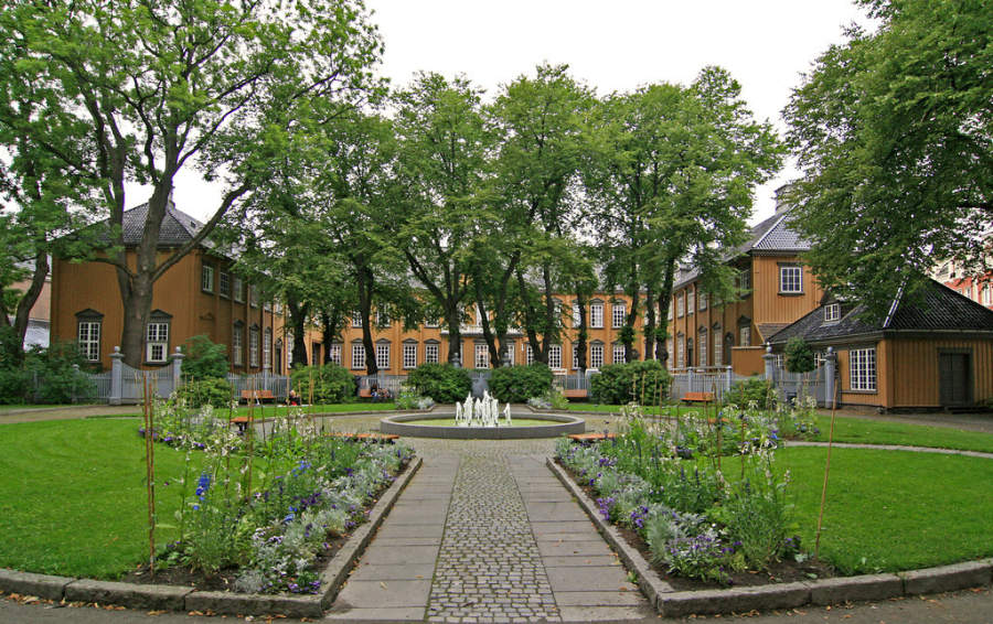 Parque Stiftsgårdsparken en Trondheim