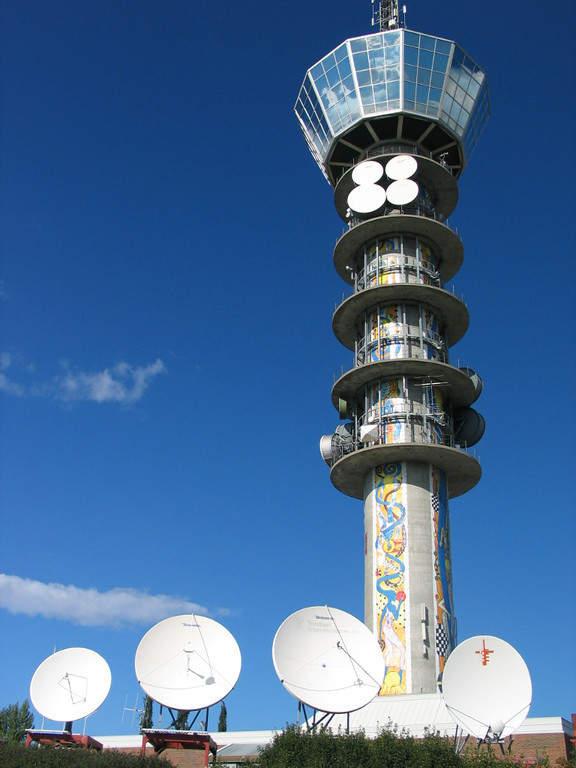 Tyholttårnet, torre de televisión y radio en Trondheim