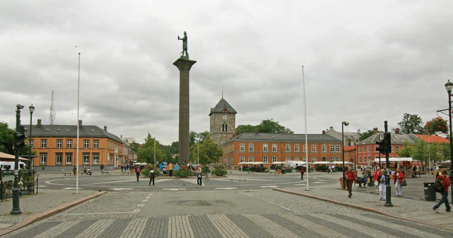 La columna de Olaf Tryggvason en Trondheim