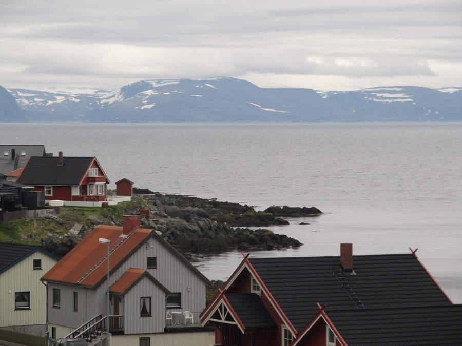 Honningsvag, pequeña ciudad al norte de Noruega
