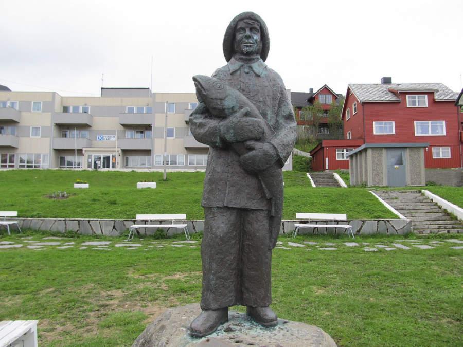 La pesca, principal actividad económica en Honningsvag