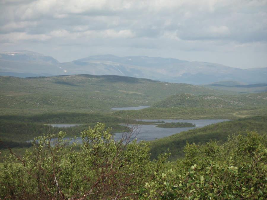 Vista panorámica de la región de Finnmark