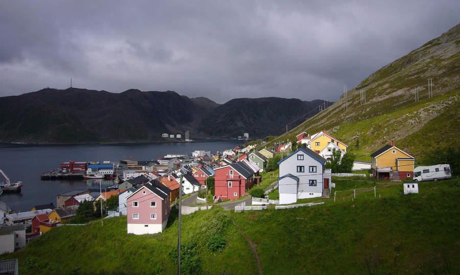 Honningsvag y sus pintorescas casas