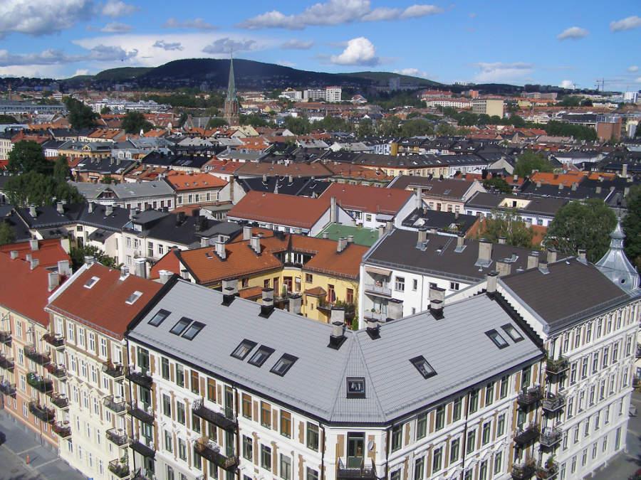 Vista panorámica de la ciudad de Oslo