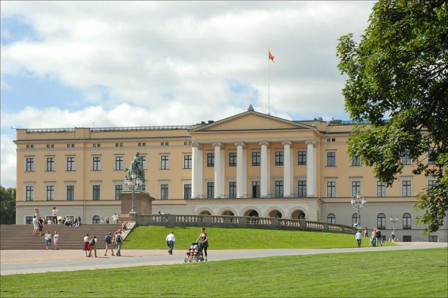 Slottet, palacio real en Oslo