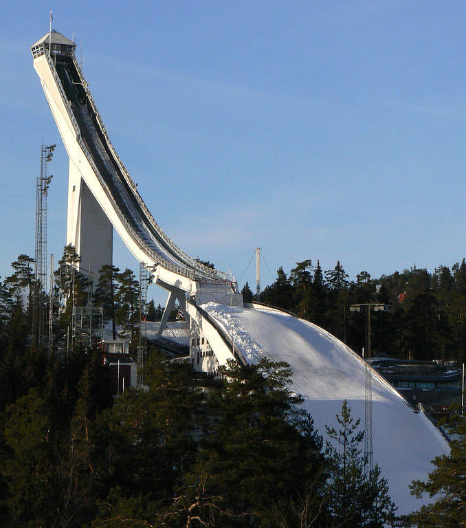 Holmenkollen, área recreativa para practicar esquí