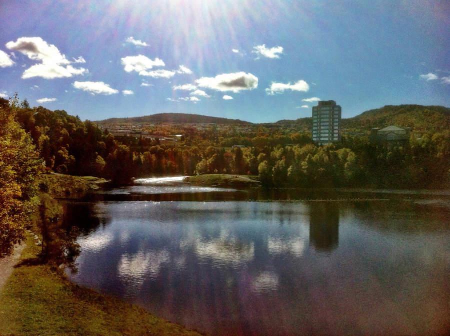 Amanecer en otoño en Corner Brook